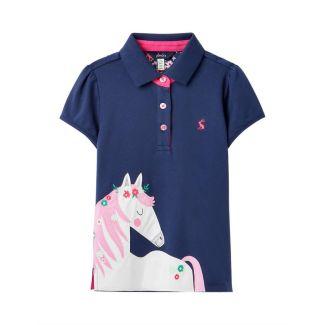 Joules Junior Girls Moxie Applique Polo Shirt