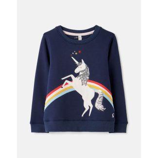 Joules Kids Girls Mackenzie Applique Sweatshirt