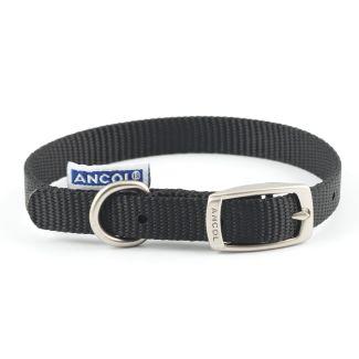 Ancol Heritage Nylon Dog Collar Black
