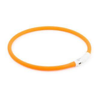 Ancol Flashing Safety Band Dog Collar Orange