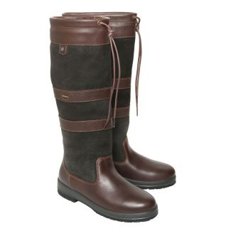 Dubarry Ladies Galway Country Boots Black/Brown
