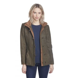 Dubarry Ladies Bracken Tweed Jacket Heath