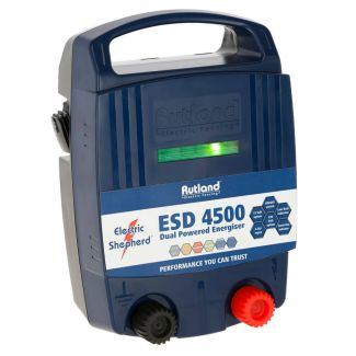 Rutland ESD4500 Dual Powered Battery & Mains Fence Energiser
