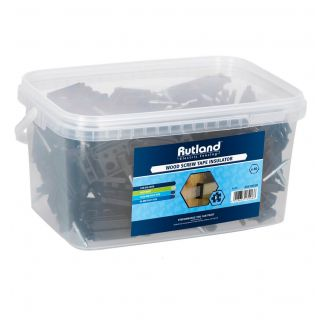 Rutland Wood Screw Clip Insulator Pack of 80