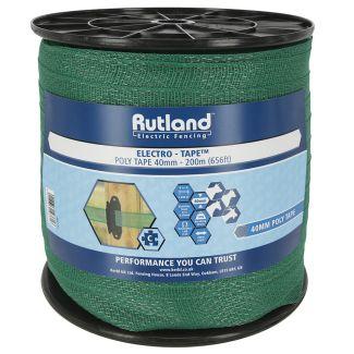 Rutland 40mm Electrotape Green