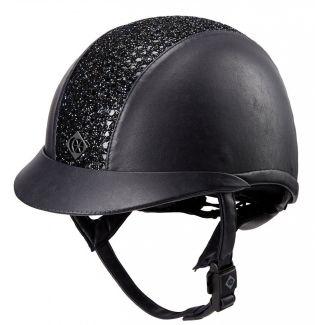 Charles Owen eLumenAYR Leather Look Riding Hat Navy