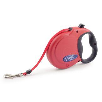 Ancol Viva 5m Retractable Dog Lead Red