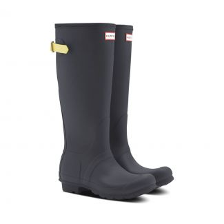 Hunter Womens Original Tall Back Adjustable Wellington Boots