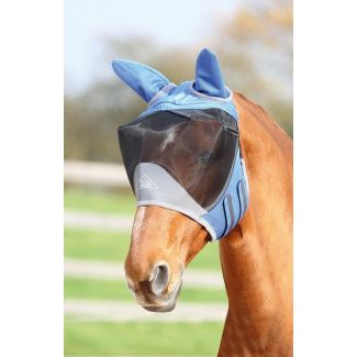 Shires Deluxe Fly Mask With Ears Royal Blue