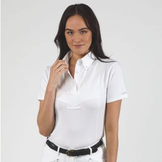 Shires Ladies Aubrion Short Sleeve Tie Show Shirt