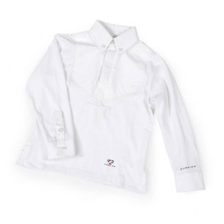 Shires Childrens Aubrion Long Sleeve Tie Show Shirt