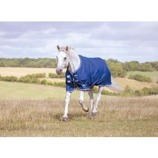 Shires Tempest Original Lite Turnout Rug 0g Navy/Grey