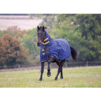 Shires Tempest Original Heavy Combo Turnout Rug 300g Navy