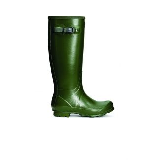 Hunter Norris Womens Field Wellington Boot Green