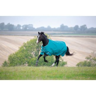 Shires Tempest Plus Medium 200g Turnout Rug Teal