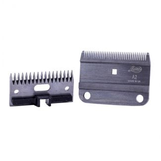 Lister A2/AC Medium Clipper Blade Set With Plastic Socket