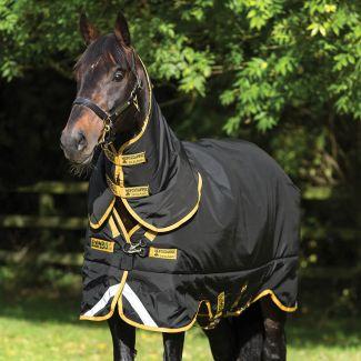 Horseware Rambo Supreme Heavy Turnout Rug 420g Black/Gold