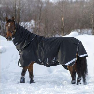 Horseware Amigo Super Bravo Plus Medium Turnout Rug 250g Black/Black & White