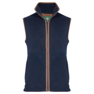 Alan Paine Mens Aylsham Fleece Waistcoat Dark Navy