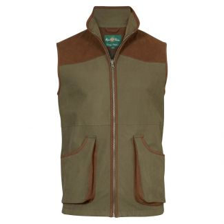 Alan Paine Mens Berwick Waterproof Shooting Waistcoat Olive