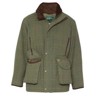 Alan Paine Mens Combrook Tweed Shooting Field Coat Lovat