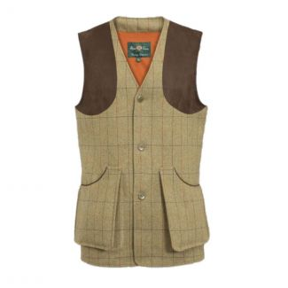 Alan Paine Mens Combrook Tweed Shooting Waistcoat - Chelford Farm Supplies