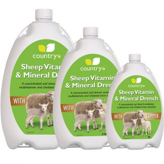 Country UF Sheep Mineral Drench With Copper - Cheshire, UK