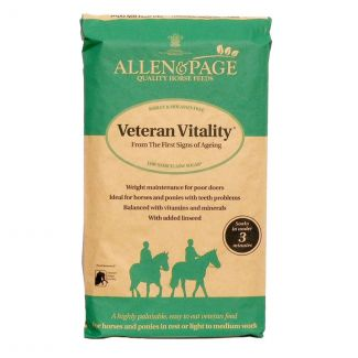 Allen & Page Veteran Vitality Horse Feed 20Kg
