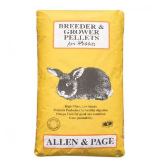 Allen and Page Rabbit Breeder & Grower Pellets 20kg - Chelford Farm Supplies