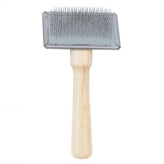 Ancol Ergo Wooden Handle Slicker Brush - Chelford Farm Supplies