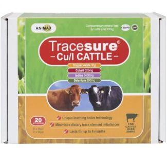 Animax Tracesure® Cu/I Cattle Bolus 20 Pack