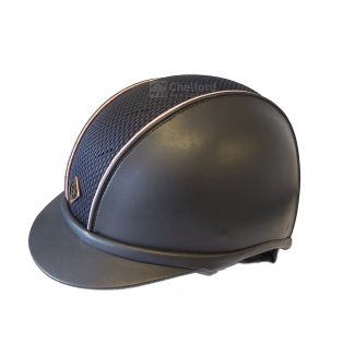 Charles Owen Ayr8® Plus With Piping Leather Look Riding Hat - Chelford