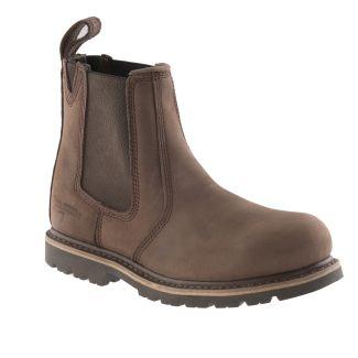 Buckler Steel Toe Dealer Boot Brown B1150