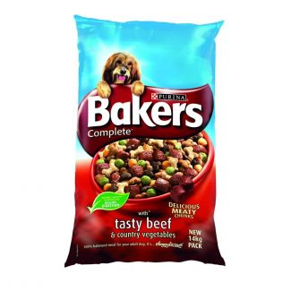 Bakers Complete Beef and Vegetables Dog Food 14kg