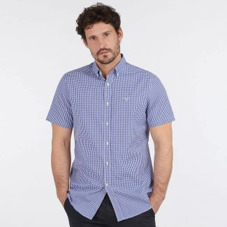 Barbour Mens Gingham 27 S/S Tailored Shirt
