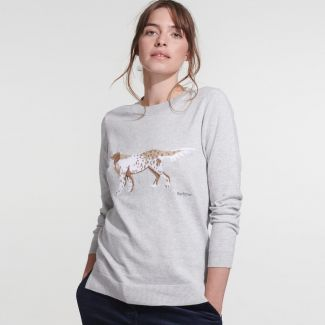 Barbour Ladies Saddle Knit Sweater