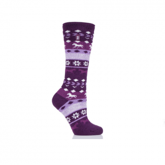 Heat Holders Ladies Bawtry Fairisle Long Thermal Socks - Chelford Farm Supplies