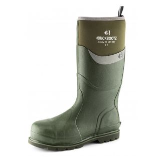 Buckler BuckBootz Safety Wellington Boot Green BBZ6000GR
