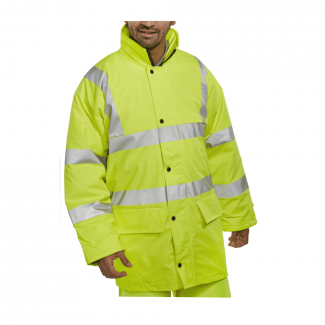 Beeswift Breathable Hi-Vis Lined Jacket | Chelford Farm Supplies
