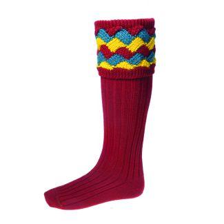House of Cheviot Mens Bowhill Brick Red Socks