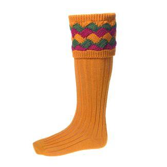 House of Cheviot Mens Bowhill Ochre Socks