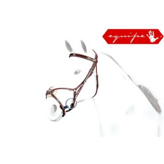 Equipe No Stress Grackle Bridle Brown