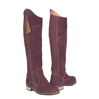Toggi Ladies Campello Suede Country Boots Berry