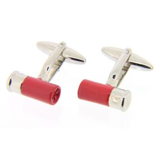 Sax Mens Cartridge Cufflinks Red / Silver