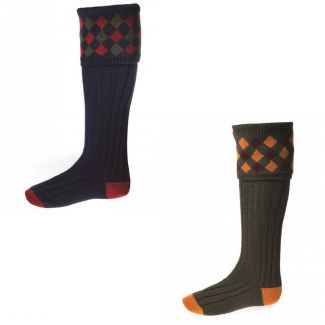 House of Cheviot Mens Chequers Socks