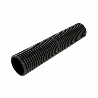 Cherry Pipes Twin Wall Non-Perforated Drainage Pipe With Connector 300mm x 6m   Chelford Farm Supplies