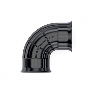 Cherry Pipes Twin Wall 90 Degree Bend Fitting 225mm   Chelford Farm Supplies