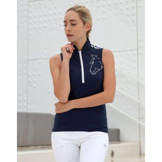 Horseware Ladies Flamboro Sporty Sleeveless Polo Shirt