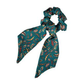 Clare Haggas Birds of a Feather Medium Silk Scrunchie