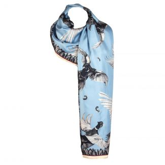 Clare Haggas Turf War Monochrome Silk Scarf  | Chelford Farm Supplies